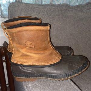 Sorel cheyanne premium pull on rain snow boots 10